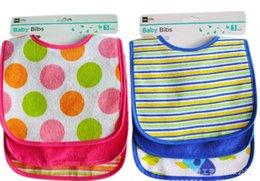 Wholesale DG Baby Waterproof PEVA Baby Burp Cloths Cotton Towel Baby Bibs Newborn Infant Feeding Bibs Colorful Bibs Y sets