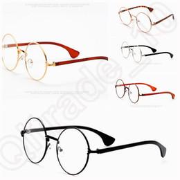 5 diseño 500pcs nueva Retro Vintage Harry Potter oro redondo de la lente de los vidrios Eyewear de la lente clara LJJK62