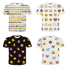 Wholesale New Fashion Inc Women Men Clothing Funny Cartoon Emoji Print D T Shirt Punk Camisetas O neck Short Sleeve Tee Tops