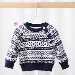 Wholesale Children Pullover Korean Kid Boys Girls Crochet Sweater Winter Flower Baby Sweaters Kids Pullover Child Clothes Toddler Clothing C17598