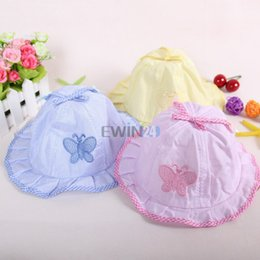 Wholesale Hot Selling New Fashion Infant Visor Sun Hats Caps Soft Cotton Baby Sun Hats Children Girls Sun Polka Bucket Hat