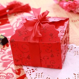 Wholesale Red Laser Cut Candy Favor Sweet box Candy Boxes New Candy Favors Novelty Wedding Favors holders Unique Design