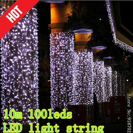2pcs lot 100 copper wire 10m 100leds led light string festive lights christmas wedding valentine outdoor decorative light - Outdoor Decorative Lights