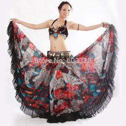 Wholesale 2015 New Womens Tribal Bohemia Stylish Long Swing Skirt Ladies Belly Dance Costumes Clothing