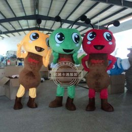 Wholesale Ordre en gros petites fourmis Mascot Costume Fancy Dress Party Adulte événement Outfit A3
