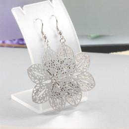 Wholesale Fashion earrings jewelry snowflake silver dangle earring for women The wedding dresses accessories drop earrings