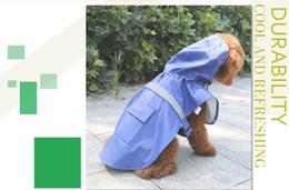 Nueva perro de mascota capa de lluvia con capucha del impermeable Ropa Ropa Tamaño SML