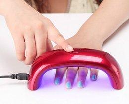 Wholesale 2015 Portable W V LED Light Bridge shaped Mini Curing Nail Dryer Nail Art Lamp Care Machine for UV Gel EU Plug