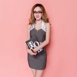 Wholesale 2016 Fashion Women Casual Suit Dress Striped Black Polka Dot Blouse High Waist Sexy Pants for OL Work Suits Slim Elegant Lace