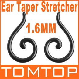 Wholesale 20pair Black Acrylic Spiral Ear Expander Taper Plug Stretcher g mm H8675 Dropshipping