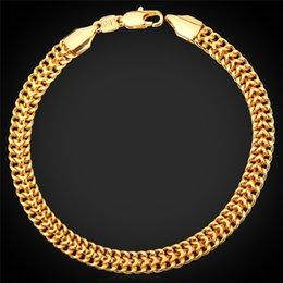 Cadeia de ouro de selo de 18K dos homens para o bracelete da jóia dos homens Projeto ouro chapeado bracelete novo da corrente da forma