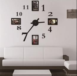 photo frame wall clock modern designlarge digital decorative wall sticker clock home decoration wall art unique gift w118