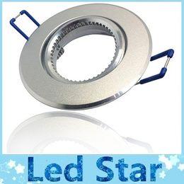 MR16 GU10 techo Soporte de montaje Para Empotrar abajo luz Fixture de lámpara LED / halógena + Silver Cuerpo