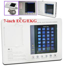 Лучшие продажи Портативный цифровой 3-канальный 12-выводном электрокардиограф ЭКГ / ЭКГ машины Hot!