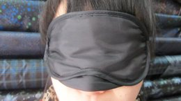 Wholesale 2016 High quality Eye Mask Shade Nap Cover Blindfold Travel Rest Skin Health Care Treatment Black Sleep AAAA quality