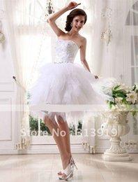 Wholesale strapless short tulles wedding dress new style