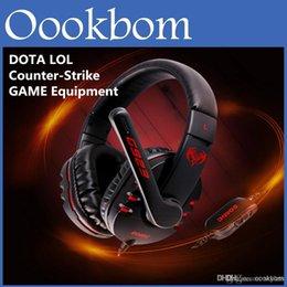 Wholesale Esport Équipement Somic G923 WCG Professional Gaming Casque Computer Voice casque avec microphone Retail Package DOTA LOL CS PC Gaming
