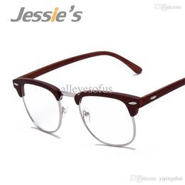 2015 summer clear lens glasses metal half rim frame glasses retro points women reading glasses magnification wholesale f15008