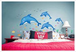 2017 Finding Nemo Bathroom Decor Finding Nemo 2015 New Dolphin Vinyl Wall Decals Children Kids Room
