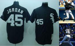 Wholesale White Sox Michael Jordan De Aza Cool Base Jerseys Grey Baseball Wear New Arrival Sports Apparel Hot Sale Baseball Shirt for Men