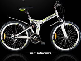 Folding mountain bike 21-speed 26x17 inch variable speed damping road bikes mountain bikes