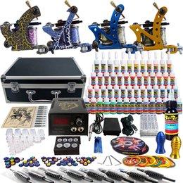 Wholesale Solong Tattoo Sale Tattoo Kit Beginner Machine Gun Power Supply tattoo kit grip TK453