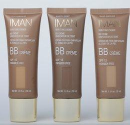 Wholesale Hot vente NEW Marque BB Cream IMAN Skin Tone ml Evener BB Creme SPF Paraben gratuit via DHL Freeship