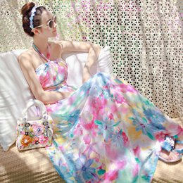 Wholesale 2015 retail New Sexy Women Summer Boho Long Maxi Evening Party Dress Beach Dresses Chiffon Dress