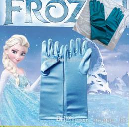 Wholesale 2 COLORS NEW frozen Gloves Extra Long Frozen Elsa Accessory Gloves Frozen A178 pair