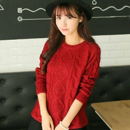 Wholesale New Arrival Korean Style Brand Autumn and winter pullover women sweater casual knitted tricot womens sweaters long sleeve basic fashion knit