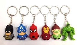 Wholesale New The Avengers Soft Plastic Charms Pendants Key Chain Keychains