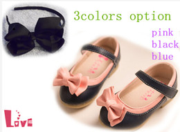 Wholesale Cheap New Girls Princess shoes bow hair bands shoes bow hair bands yards shoes sale drop shipping ZL