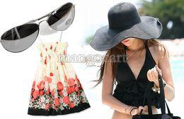 Wholesale Top Sale Summer Colorful Wide Large Brim Beach Sun Hat Straw Beach Cap For Ladies Elegant Girls Vacation Tour Hat