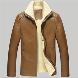 Discount Fleece Leather Jackets For Men | 2017 Fleece Leather ...