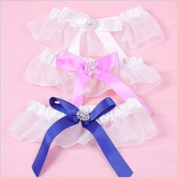 Wholesale 2014 Hot Sale New Royal Blue White Pink Bow Wedding Supplies Bridal Garter