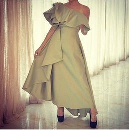 Wholesale 2014 New Off the shoulder Satin Ruflle Homecoming Dress Backless Cocktail Party Gowns Hot Sale