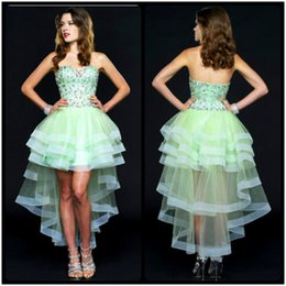 Mint High Low Prom Dresses Online | Low High Mint Green Prom ...