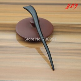Wholesale Elegant Wooden Ebony Hair Pins lucky girl styling tools Haircare wedding bridal hairpins woman style chinese hair sticks