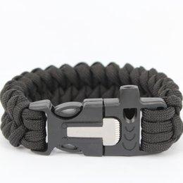 Wholesale 550 compass paracord bracelet with flintstone compass survival bracelet for men