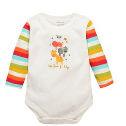 Wholesale Gros Animal Giraffe Baby Boy manches longues Romper Baby Girl One Pieces Mignon Vêtements Salopette Roupas De Bebe Infantil Vêtements bébé