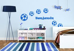 sports wall stickers football customized name wall art boys bedroom decals for kids rooms sports name wall decal on sale