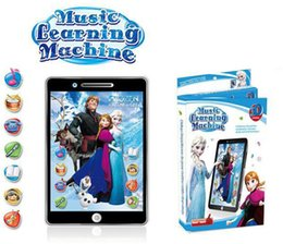Wholesale 2 colors D Ypad English Learning Machine Frozen style Tablet toys Computer educational TOY for Kids wtih movie sound and music