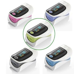 Wholesale OLED Fingertip Pulse Oximeter alarm Spo2 Blood Monitor directions modes color available blue grey pink purple green English Spanish