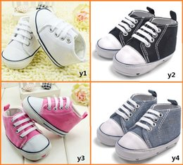 Wholesale 2016 Fashion canvas shoes CM neonatal soft bottom casual shoes Cheap toddler shoes baby wear pair CL