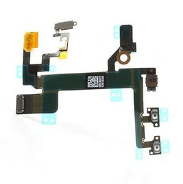 10pcs New Power Mute Volume Button Switch Connector Flex Cable Ribbon For iPhone 5S Free Shipping