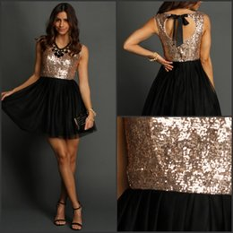 Gold and Black Chiffon Cocktail Dress_Cocktail Dresses_dressesss