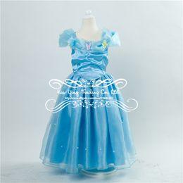 Wholesale 2015 Hot Sale baby girl dress princess dress Cinderella costume kids carters children clothes dress prom dress party lace Kids dresses