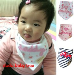 Wholesale 2014 New Arrival Cotton Baby Bandages Triangle Bibs Children Snap Bibs Mom s Care Bibs