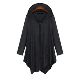Discount Plus Size Womens Hooded Cardigan   2017 Plus Size Womens ...