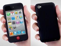 Легкая крышка случая кожи силикона переключения для касания 4 4G iPod 4TH черноты